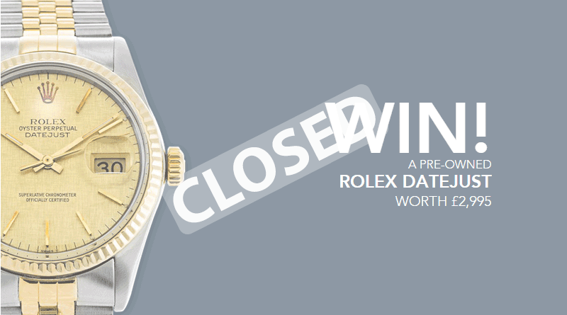 Competition: Win a Rolex Datejust