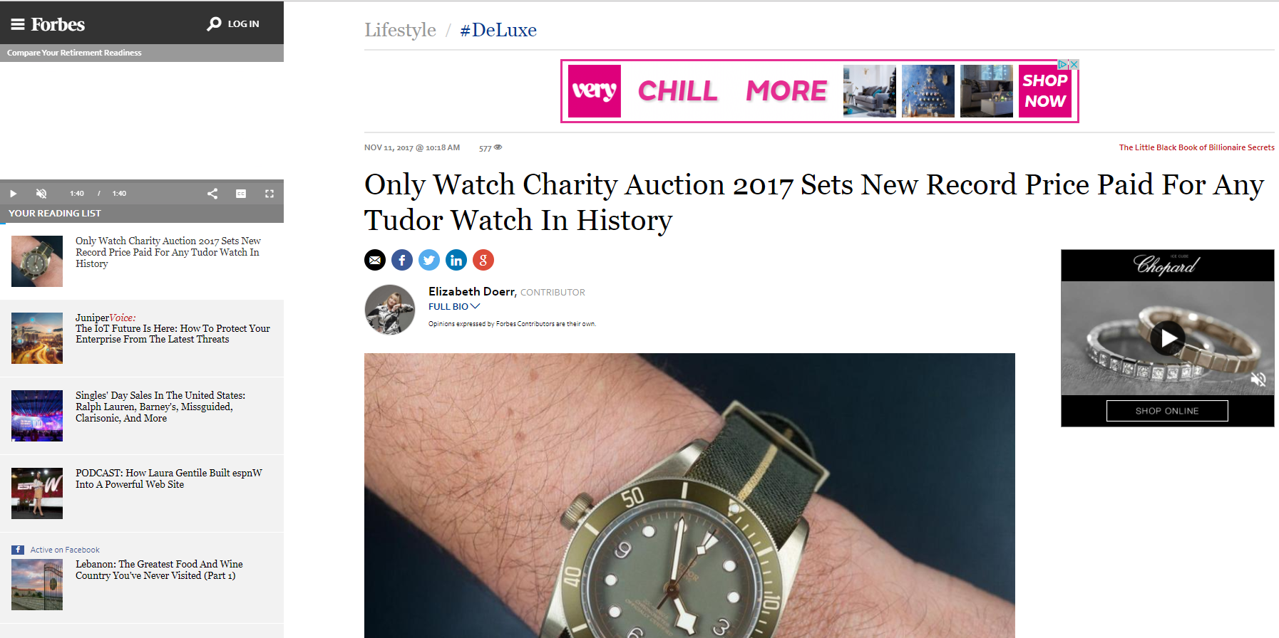 Tudor Black Bay Bronze One Only Watch 2017 Forbes Error