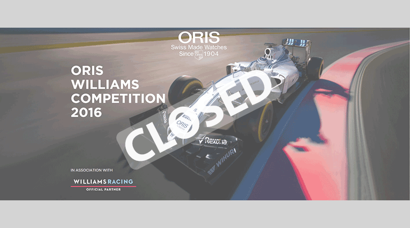 Competition: 2016 Oris Williams Chronograph Watch