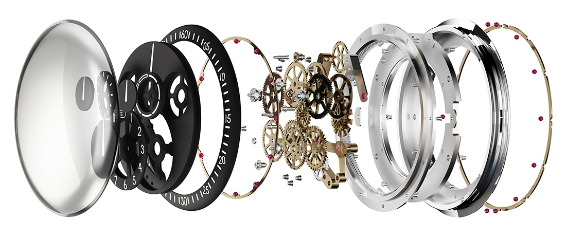 Ressence-Type-1-Squared Watch Exploded View